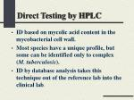 direct testing by hplc