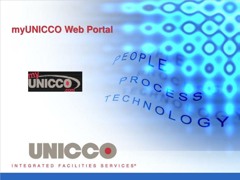 myunicco web portal l.