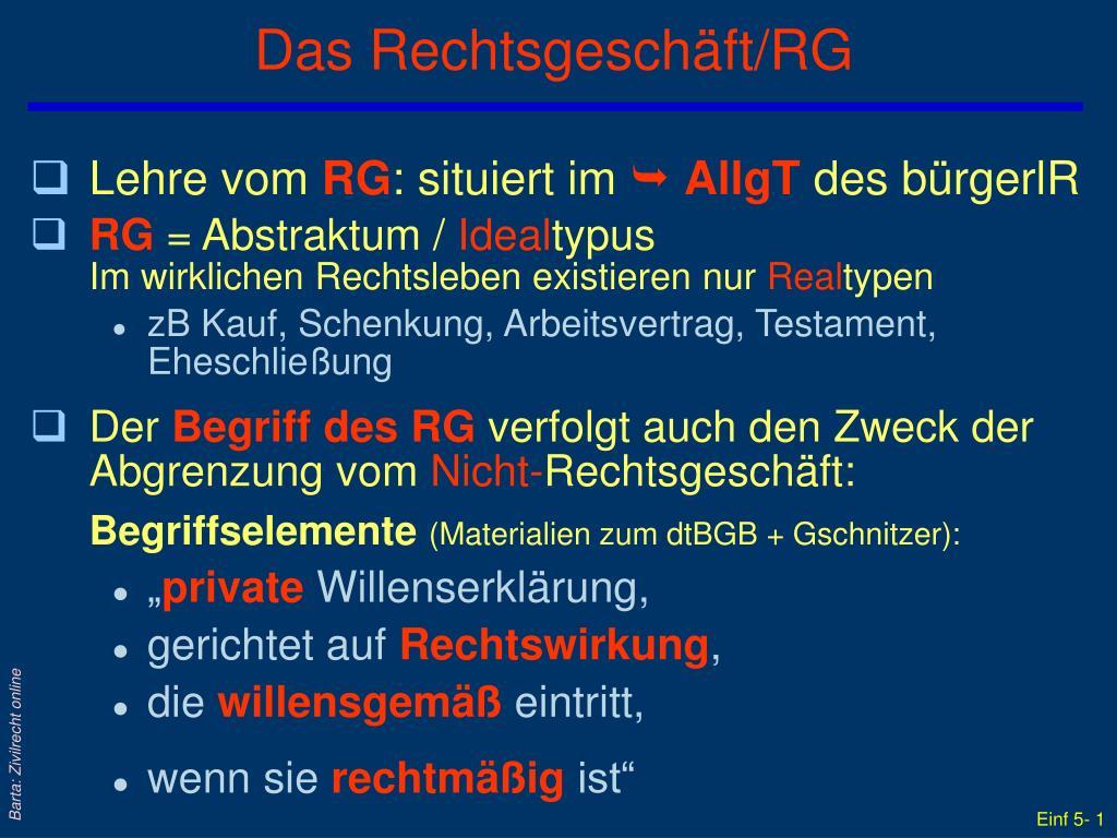 das rechtsgesch ft rg l.