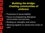 building the bridge creating communities of embrace