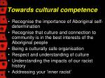 towards cultural competence