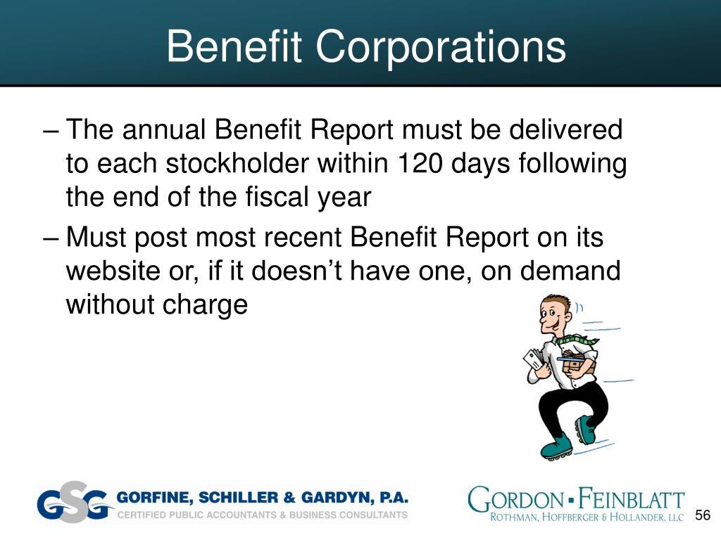Benefit Corporations