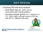 joint ventures37