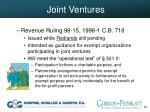 joint ventures40