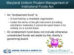 maryland uniform prudent management of institutional funds act64