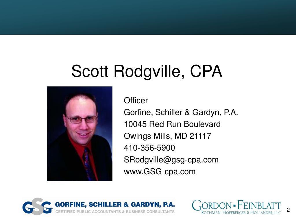 Scott Rodgville, CPA