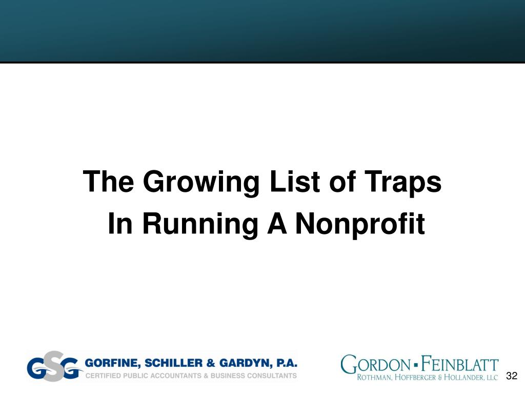 The Growing List of Traps
