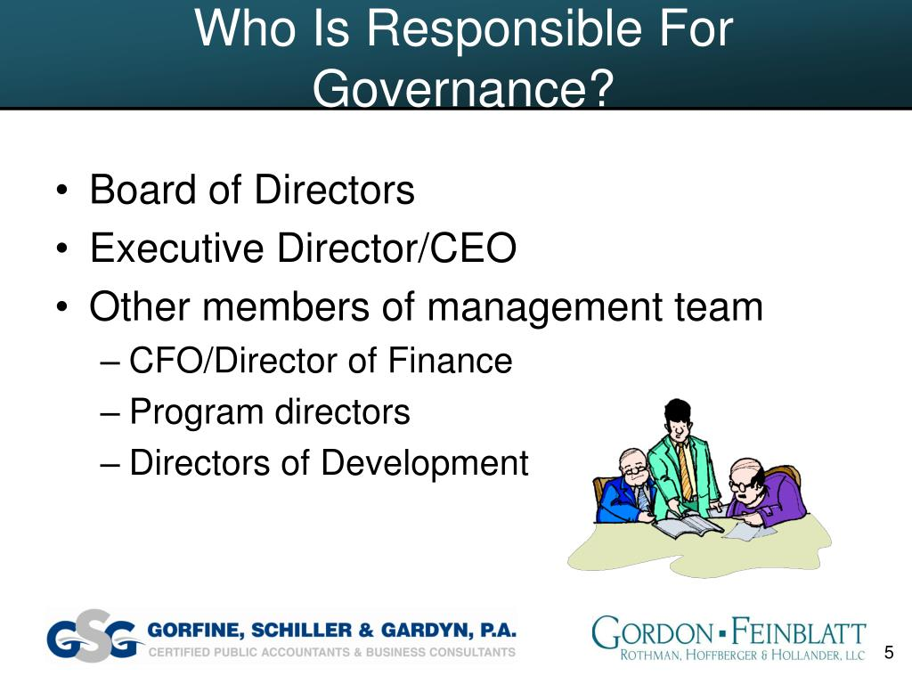 Who Is Responsible For Governance?