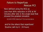 failure to reperfuse rescue pci