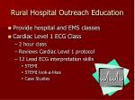rural hospital outreach education