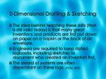 2 dimensional drafting sketching5