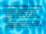 2 dimensional drafting sketching6