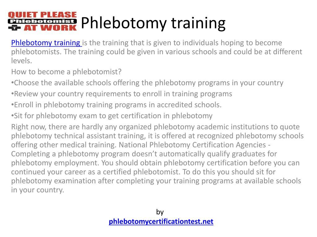 phlebotomy training l.
