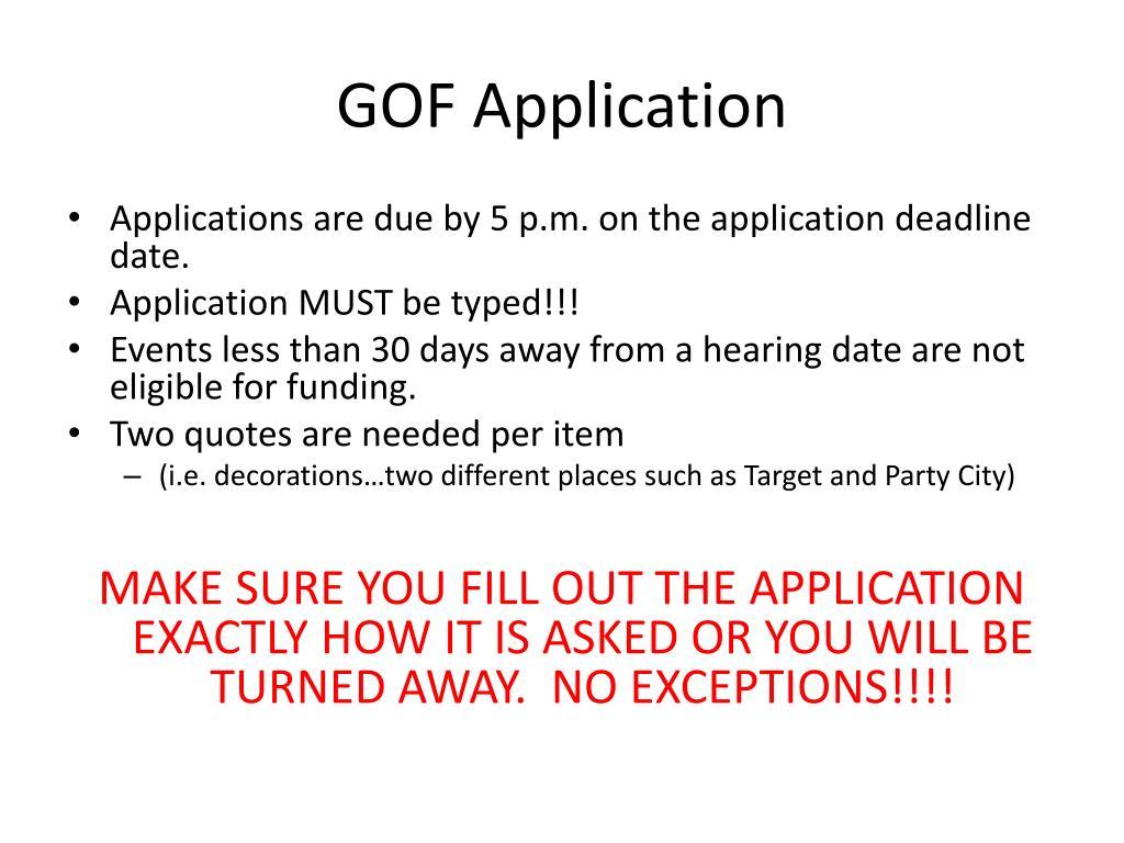 GOF Application