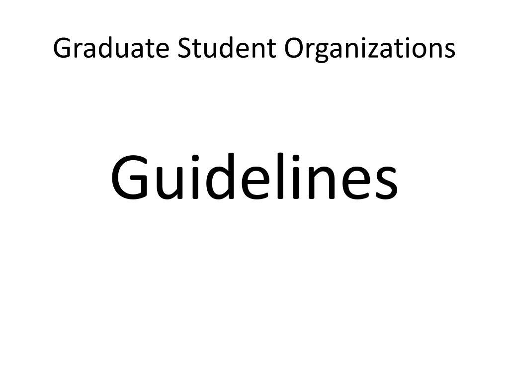 Graduate Student Organizations