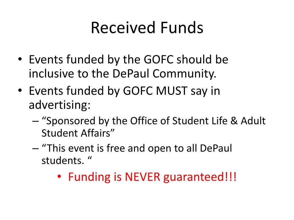 Received Funds