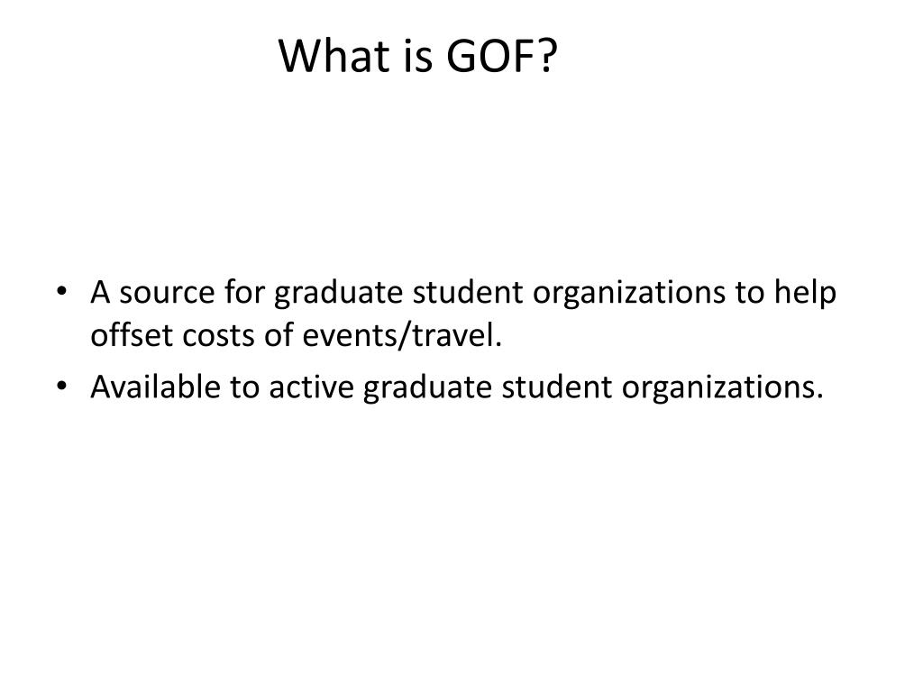 What is GOF?