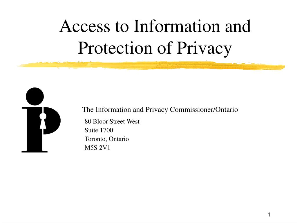 access to information and protection of privacy l.