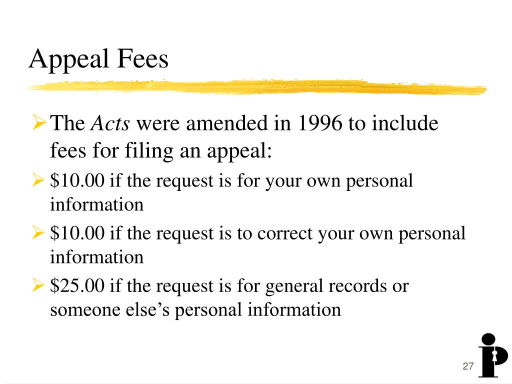 Appeal Fees