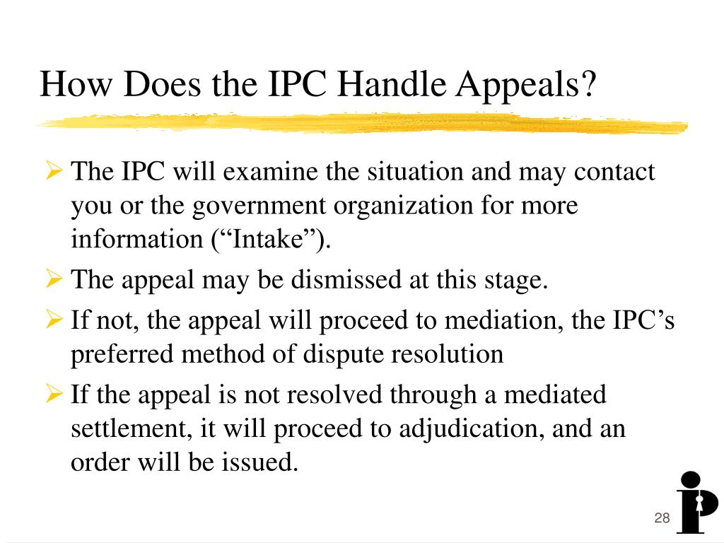 How Does the IPC Handle Appeals?