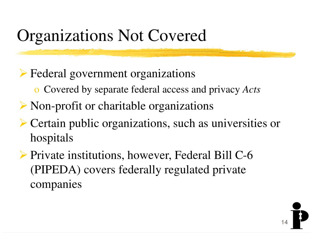 Organizations Not Covered