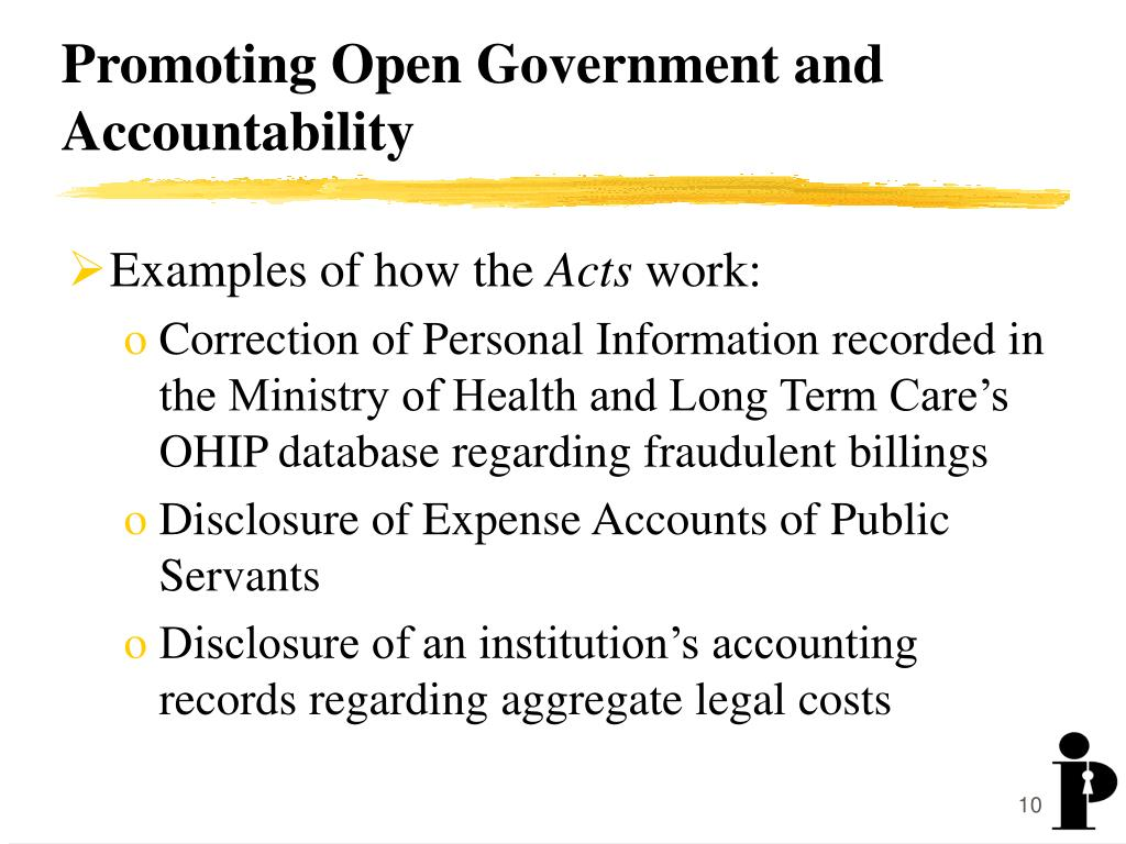 Promoting Open Government and Accountability
