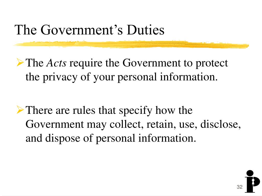 The Government's Duties