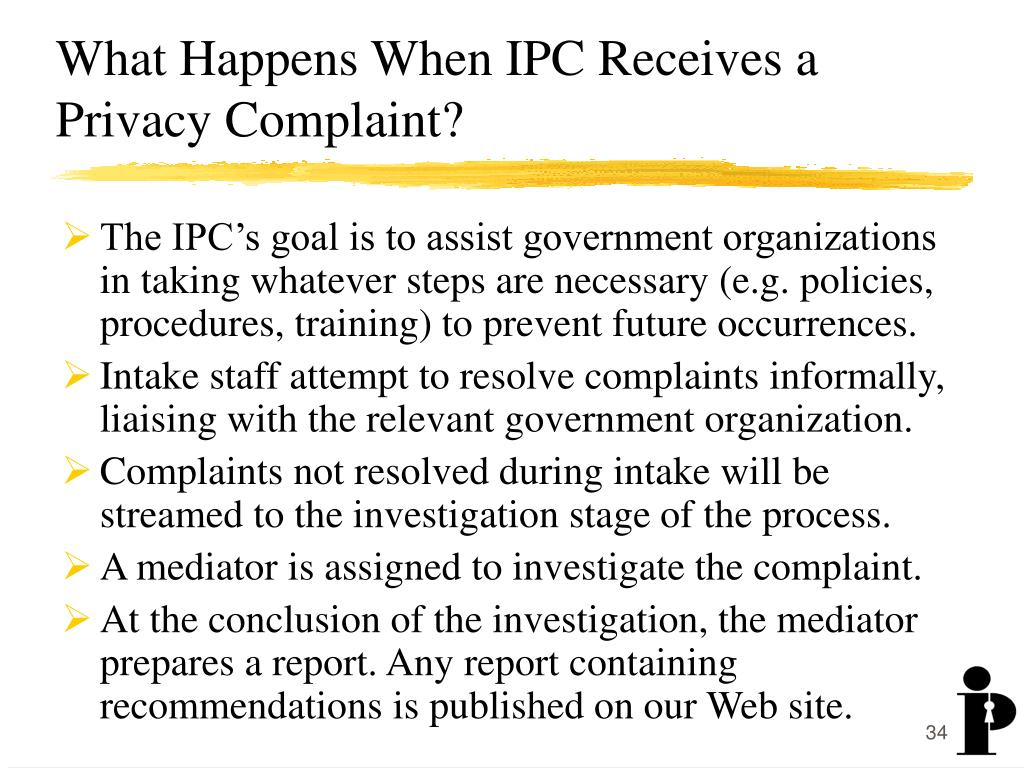 What Happens When IPC Receives a Privacy Complaint?