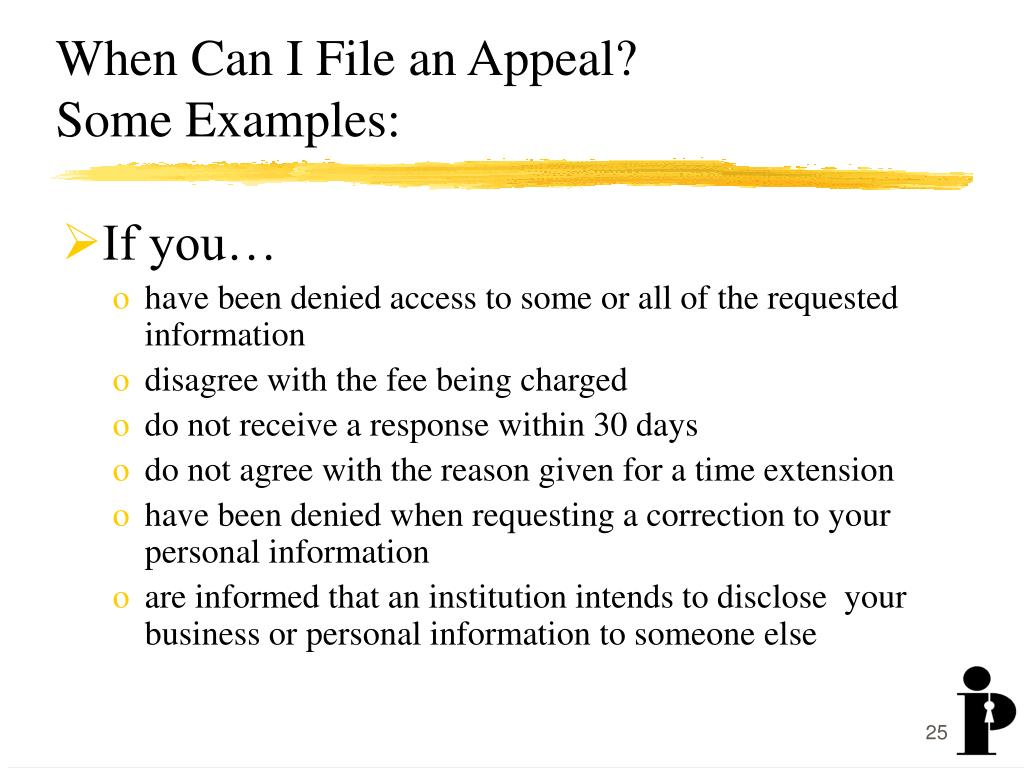 When Can I File an Appeal?