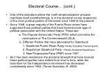 electoral course cont