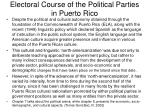electoral course of the political parties in puerto rico