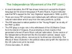the independence movement of the pip cont