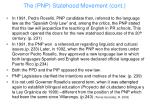 the pnp statehood movement cont