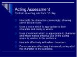 acting assessment