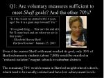 q1 are voluntary measures sufficient to meet sheff goals and the other 7029