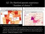 q2 do hartford parents experience freedom of choice