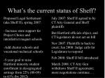 what s the current status of sheff