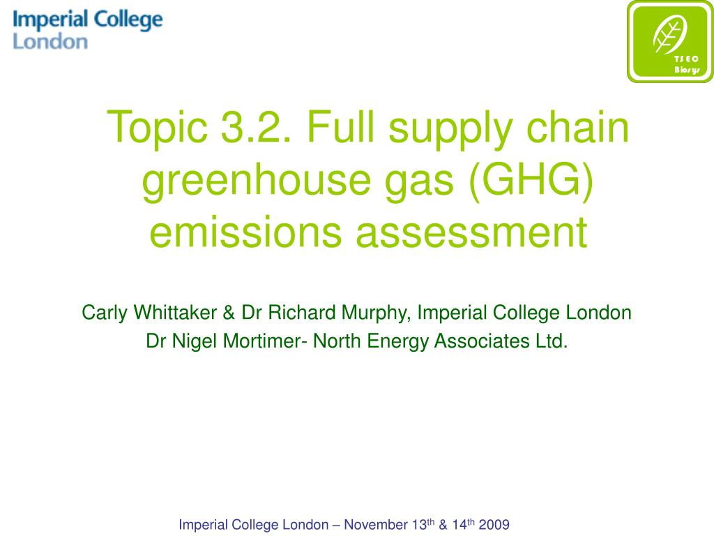 topic 3 2 full supply chain greenhouse gas ghg emissions assessment l.