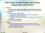 doe global nuclear energy partnership deployment 2020 2030
