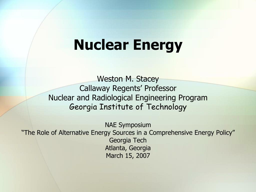 nuclear energy l.