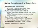 nuclear energy research at georgia tech