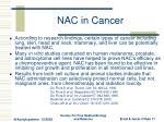 nac in cancer