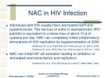 nac in hiv infection