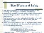 side effects and safety