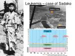 leukemia case of sadako