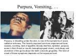purpura vomiting