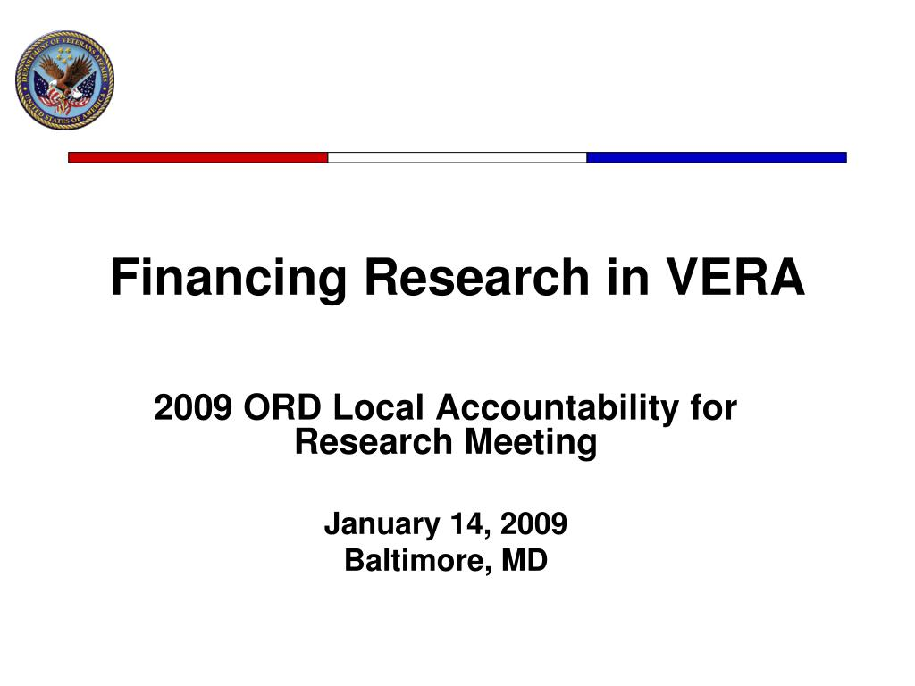 financing research in vera l.