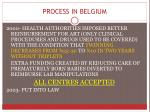 process in belgium