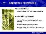 application termination
