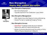 non disruptive